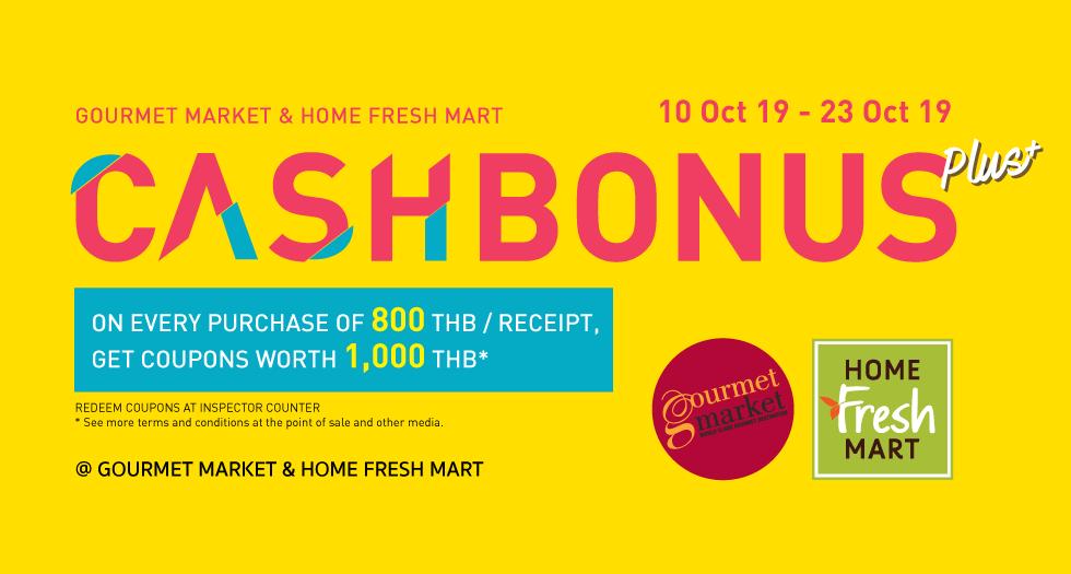Cash Bonus Plus+ shop 800 get 1,000